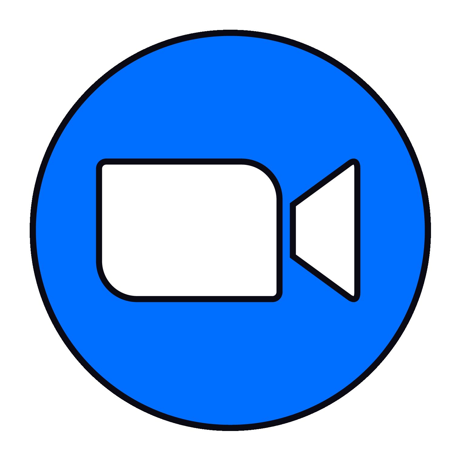 Icoon van het Zoom logo